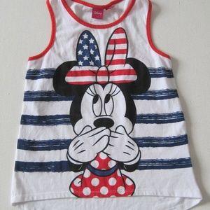 DISNEY Tank Top 10 12 L Minnie Mouse Singlet White